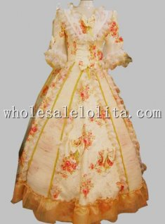 Feminine 17 18th Century Rococo Marie Antoinette Period Dress Celebrity & Wedding Dress
