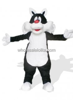 Black and White Cat Costume for Adult