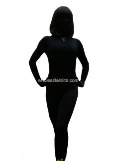 Black Lycra Spandex Full Body Model Zentai Suits