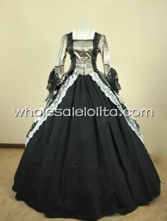 18th Century Theme Dress Two Piece Marie Antoinette Period Dress Prom Performance Clothing