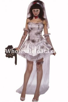 Halloween Role Play Ghost Bridal Costume