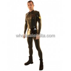 Black Police Uniform Latex Male Bodysuit