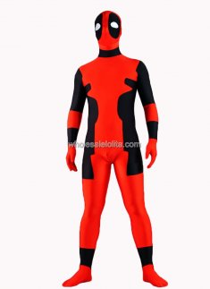 Red And Black Spandex Zentai Costume