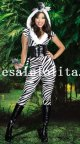 COOL Adult Lady Zebra Cosplay Animal Halloween Costume