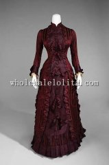 19th Century Period Dress - Late 1890s Belle Epoche Era Victorian Wedding Dress