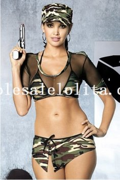 Luring Camo Soldier Costume for Women