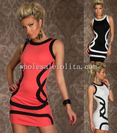 Package Hip Stripe Mini Club Dress