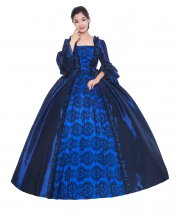 Blue Rococo Baroque Victorian Dress Victorian Women Dress Period Dress Ball Gown