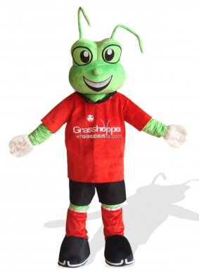 Adult Frog Costume In Red Clothes