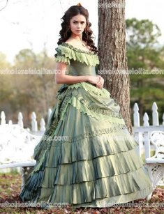 1864 Fashions | Vampire Diaries Katherine Pierce 1864 Pastel Green Gown - Custom Made