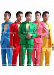 Blue/Pink/Green/Yellow/Red Mens Prince Palace Suits Mens Vintage Costume