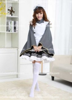 Black White Maid Love Live Stage Costume
