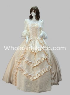17 18th Century Noble Marie Antoinette Rococo Ball Gown Champange Celebrity Dress