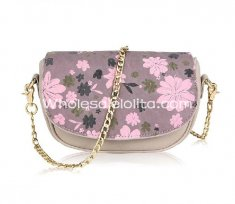 2014 Summer Light Purple Floral Printing Fashion Chain Bag