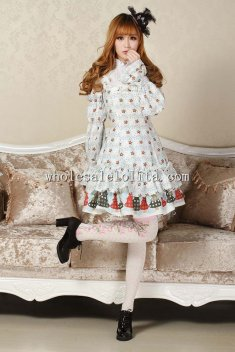 Printing Long Sleeves Sweet Lolita Dress