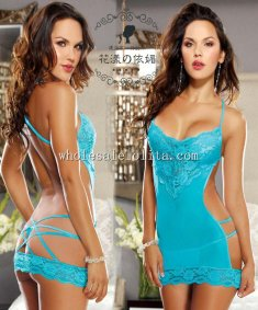Backless String Lace Halter Sexy Teddy