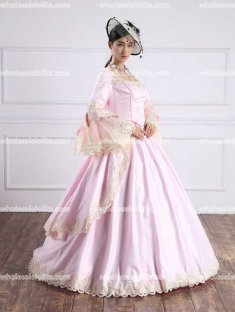 Pink Southern Belle Ball Gown/Victorian Ball Gowns/Evening Dress