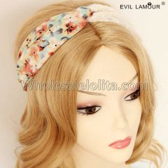 Printing Wide-brimmed Scarves Hair Headband Masquerade Accessories