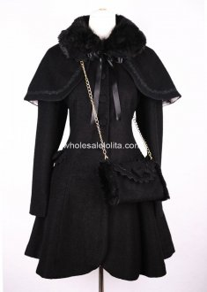 New Styel Black Wool Winter Sweet Coat