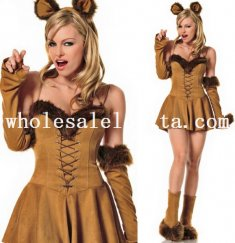 Halloween Catwomen Animal Costume Dress For Women