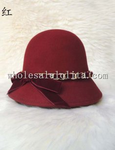 Vintage British Style Wool Ladies Cloche Hat