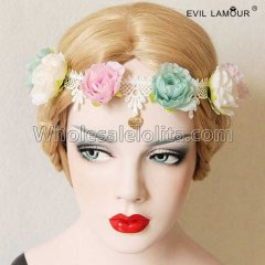 Sweet Flowers and Lace Headband Masquerade Accessories