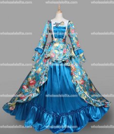 18th Century Rococo Dress Light Blue Marie Antoinette Victorian Dress Prom/Wedding Dress Ball Gown Reenactment Costume