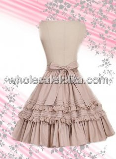 Beige Multilayer Cotton Lolita Skirt
