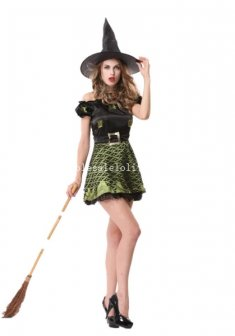 2014 Halloween Witch Cosplay Costume Fancy Party Dress