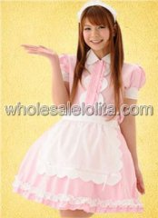 Pink Ruffled Cotton Lolita Dress