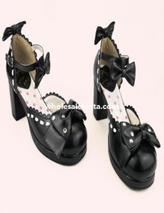 Cosplay Sweet Bow Rhinestore High Heel Sweet Princess Lolita Shoes