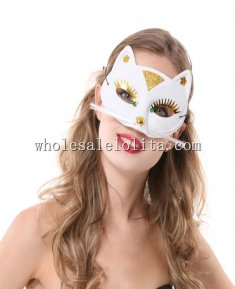 Cosplay Cat Shaped PVC Half Face Mask for Women