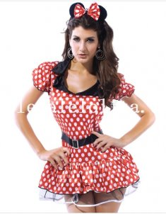 Cute Mickey Mosue Polka Dot Dress