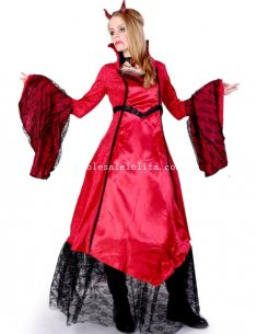 2014 Halloween Fairytale Vampire Cosplay Costume Gothic Red Dress