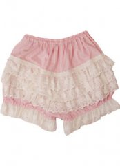 Simple and Lovely Pink Cotton Lace Lolita Bloomers