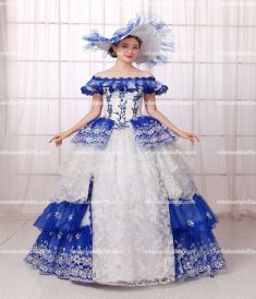 18th Century Rococo Style Marie Antoinette Inspired Prom Dress/Medieval Wedding