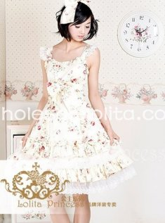 High-end Princess Flower Print Cotton Recoco JSK Lolita Dress