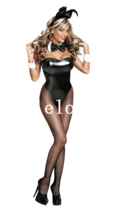 Sexy Bunny Leather Tight Fit Costume