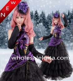 Hot Sale Vocaloid Luka Purple and Black Cosplay