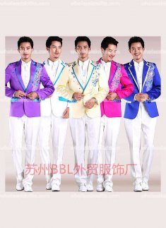 White/Pink/Rose/Yellow/Sky Blue/Blue/Purple Piece Prince Suits Mens Party Costume