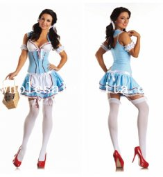 New Arrival Alice in Wonderland Adult Alice Maid Dress Halloween Costume
