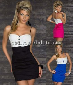 Low Cut Strappy Bodycon Club Dress