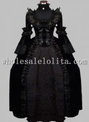 Luxury Gothic Black 19th Century Victorian Themed Costume Carnival Halloween Costume
