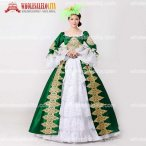 2017 Brand New Green Embroidery Marie Antoinette Dress Civil War Southern Belle Masquerade Ball Gown Reenactment Women Clothing