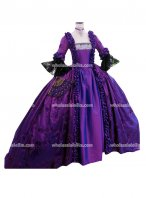 18th Century Marie Antoinette Purple Victorian Dress Prom/Wedding Dress Ball Gown