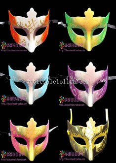 Cosplay Glitter Budget Half Face Carnival Masquerade Mask