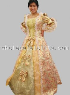 European Court 17 18th Century Rococo Inspired Ball Gown