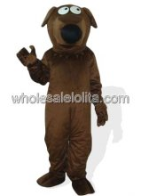 Deep Brown Plush Dog Halloween Costume