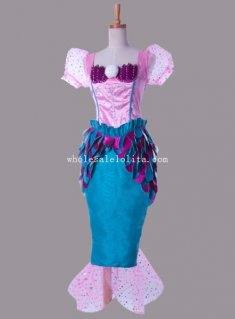 The Little Mermaid Disney Princess Ariel Halloween Costume Fancy Ball Dress