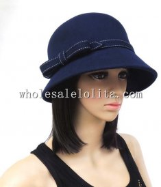 Paris Fashion Winter Wool Bow Ladies Bucket Hat